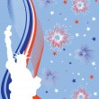 4th july background - Image vectorielle