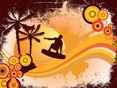 Sommerzeit - surfen — Stockvektor