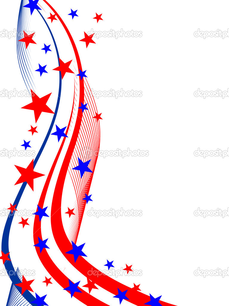 Vector illustration of stars and stripes on white — Imagens vectoriais em stock #3789984