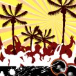 Beach party — Stock Vector #3817887