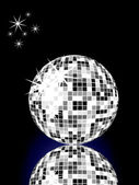 Silver mirror ball — Stockvektor