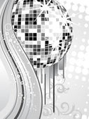 Silver mirror ball — Stock Vector