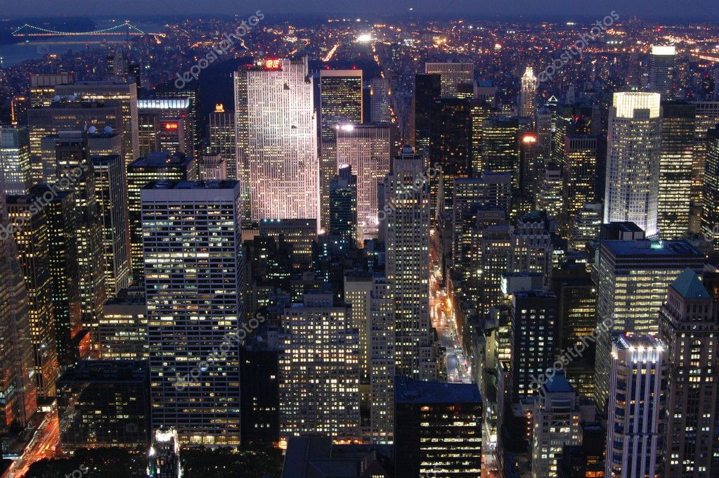Night view over Manhattan — Stock Photo #3787217