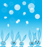 Cheerful rabbits — Stock Vector