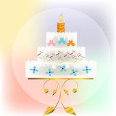 Celebratory pie — Stock Vector