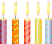 Candles, object — Stock Vector