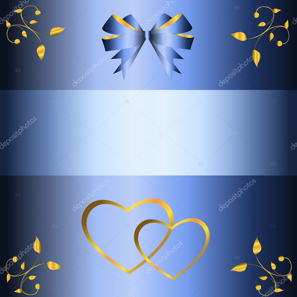 Blue wedding background  Stock Vector #3161695