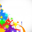 Vector de stock : Abstract background with colorful blob.
