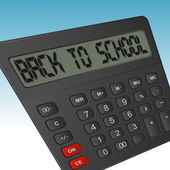 "Calculator with an inscription "" back to school "" — Stockvector"
