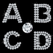 Set of diamond alphabetic letters . Vector - Stock Vector