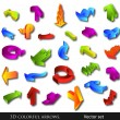 vector 3d colorful arrows set — Stock Vector