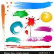 Grungy design colorful elements. Vector set (2) - Stock Vector