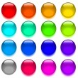 Set web shiny glass buttons. Vector illustration. — Stock Vector
