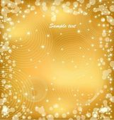 Gold background with sparkles. Vector — Stock Vector