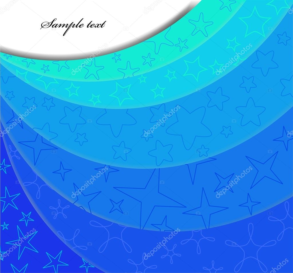 Abstract blue background with step. Vector illustration — Stock Vector #3447054