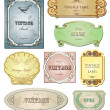 Vintage labels for your design. Vector set — Stock Vector