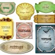 Royalty-Free Stock Vector Image: Vintage bright labels  for your design. Vector set
