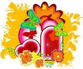 Dekorativní květinové pozadí abstraktní. vektor — Stock vektor