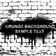 Grunge banner on brick wall. Vector — Stock Vector #3531613