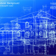 Architectural blueprint background. Vector — Grafika wektorowa