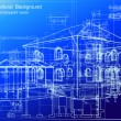 Architectural blueprint background. Vector — Stockvectorbeeld