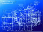Architectural blueprint background. Vector — Vettoriale Stock