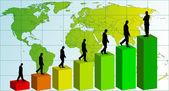 Business team chart earning. Vector — Stock Vector