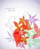 Romantic flower background. Vector — Stock Vector