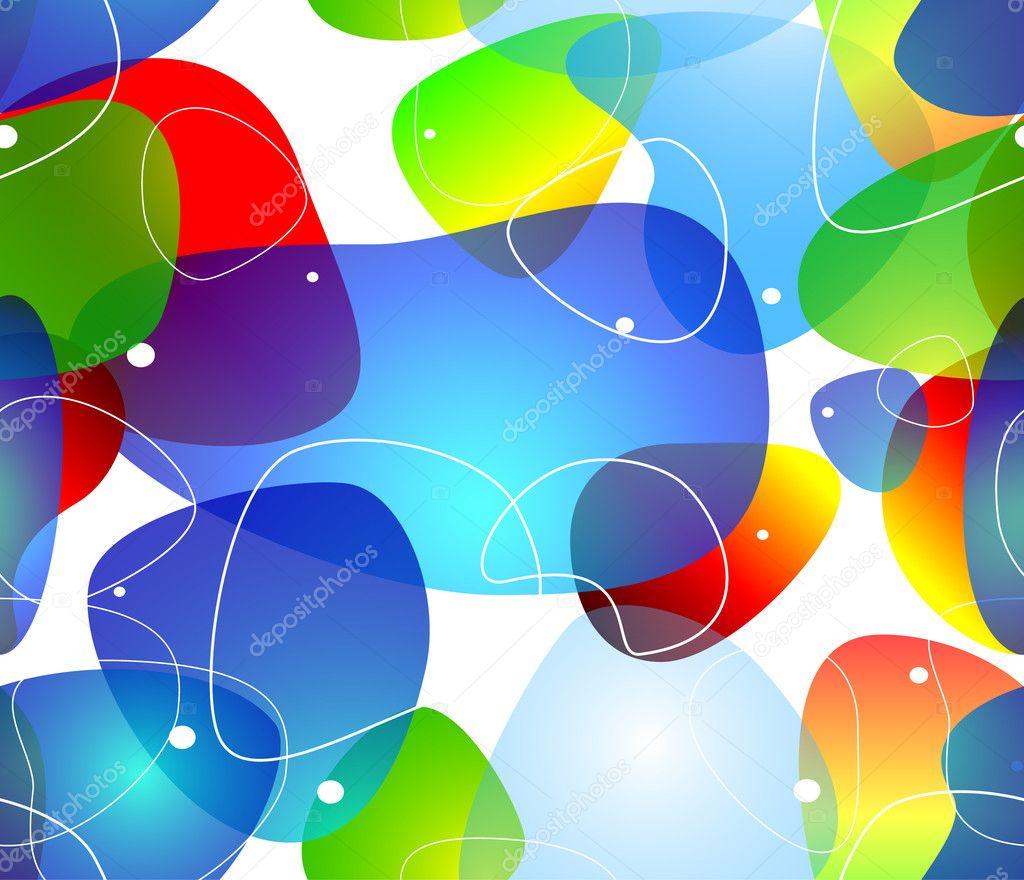 抽象透明泡泡水背景矢量图– 图库插图