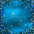 Royalty-Free Stock Vektorfiler: Blue background with sparkles. Vector