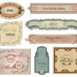 Stock vektor: Set vintage labels for your design. Vector