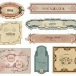 Set vintage labels for your design. Vector — Stock Vector