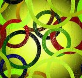 Seamless grunge round on green background — Stock Vector