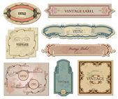 Tasarımınız için vintage etiketleri ayarlama. vektör — Stok Vektör