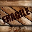Royalty-Free Stock Vector Image: Grunge fragile wooden box background. Vector