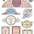 Stock Vector: Collection vintage labels for your design. Vector