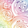 Swirling hand drawn of various colors. Vector — Stockvektor