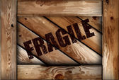 Grunge fragile wooden box background. Vector — Stock Vector