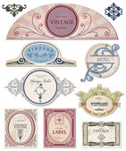Collection vintage labels for your design. Vector — Stock Vector