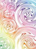 Swirling hand drawn of various colors. Vector — Vettoriale Stock