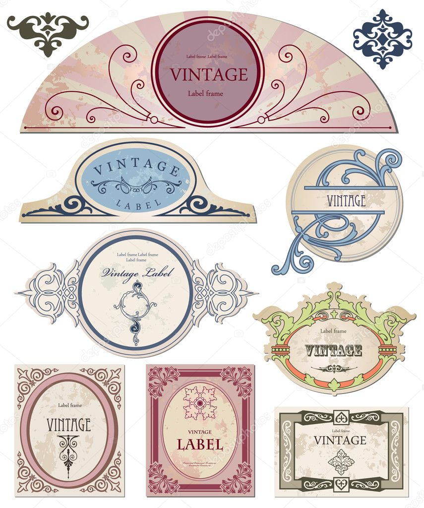 Set vintage labels  for your design. Vector illustration — Stock Vector #3726360