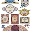 Set vintage bright labels  for your design. Vector — Stock Vector
