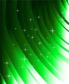 Abstracte groene lijnen en ontwerpelementen — Stockvector