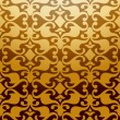 Stock Vector: Seamless Golden Damask Pattern. Vector