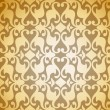 Seamless Golden Damask background. Vector - Stock Vector