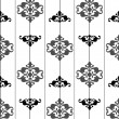Ornate seamless black and white pattern. vector — Stock Vector #3794375