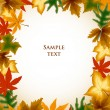 Royalty-Free Stock Vector Image: Autumn leaves frame background. Vector