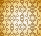 Seamless Golden Damask background. Vector — Stock Vector
