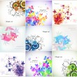 Royalty-Free Stock Immagine Vettoriale: Set romantic Floral background. Vector