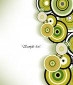 Romantic ring. Abstract background. Vector — Vector de stock